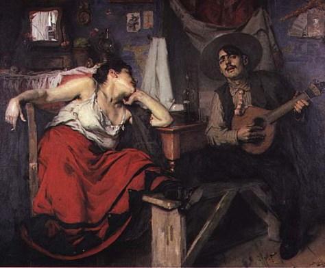 O Fado, de José Malhoa (pintura de 1910).